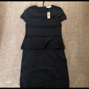LOFT Dresses - Peplum Sweater Dress NWT